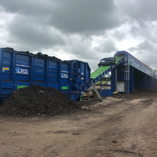 Earth Equipment Ltd Supply Large Compost Trommel, one of the largest Static trommels in the UK